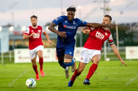 Stock Picture of Waterford vs St. Patrick's Athletic. Waterford's Tunmise Sobowale with Robbie Benson of St Pats