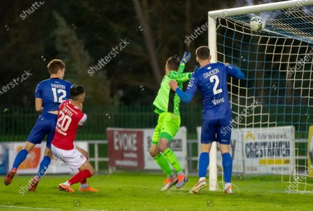Waterford vs St. Patrick's Athletic. Waterford's John Martin scores their second goal