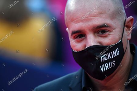 Stock Image of French DJ Cut Killer wears a face mask as he arrives on the red carpet prior to the premiere of 'Minari' during the 46th Deauville American Film Festival, in Deauville, France, 04 September 2020. The festival runs from 04 to 13 September 2020.