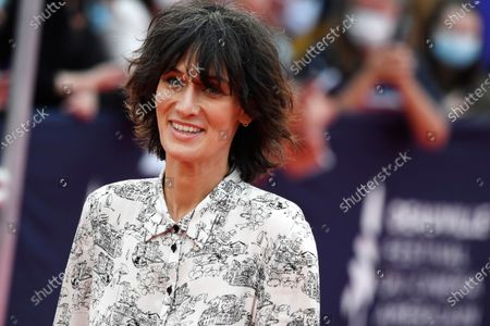 Stock Image of Clotilde Hesme arrives on the red carpet prior to the premiere of 'Minari' during the 46th Deauville American Film Festival, in Deauville, France, 04 September 2020. The festival runs from 04 to 13 September 2020.