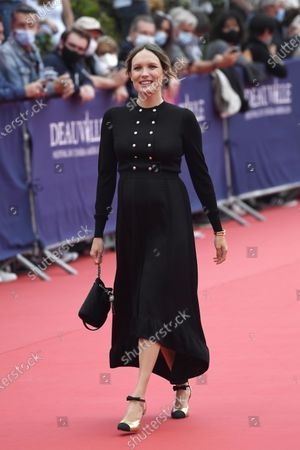 Ana Girardot arrives on the red carpet prior to the premiere of 'Minari' during the 46th Deauville American Film Festival, in Deauville, France, 04 September 2020. The festival runs from 04 to 13 September 2020.