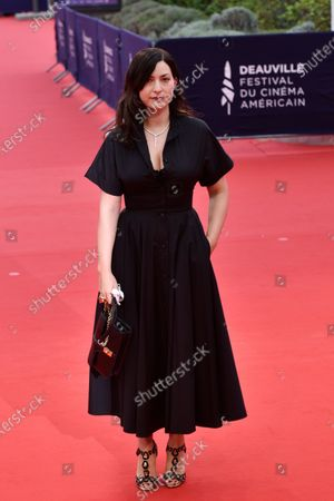 Rebecca Zlotowski arrives on the red carpet prior to the premiere of 'Minari' during the 46th Deauville American Film Festival, in Deauville, France, 04 September 2020. The festival runs from 04 to 13 September 2020.