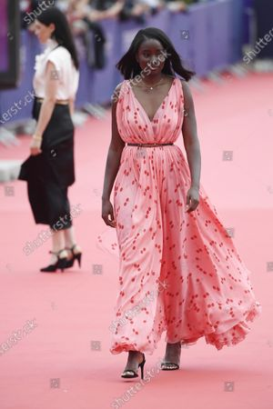 Karidja Toure arrives on the red carpet prior to the premiere of 'Minari' during the 46th Deauville American Film Festival, in Deauville, France, 04 September 2020. The festival runs from 04 to 13 September 2020.