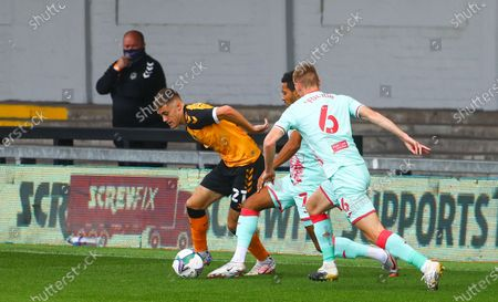 Editorial picture of Newport County v Swansea City, EFL Carabao Cup First Round South, Football, Rodney Parade, Newport, Wales, UK - 05 Sep 2020