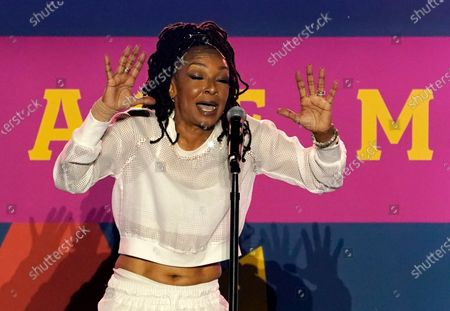Stock Picture of Singer Siedah Garrett performs at the Drive-In to Erase MS gala, in Pasadena, Calif