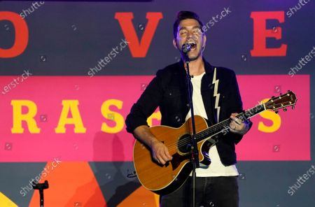 Stock Photo of Singer Andy Grammar performs at the Drive-In to Erase MS gala, in Pasadena, Calif