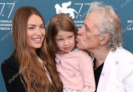 Abel Ferrara with wife Cristina Chiriac and their daughter Anna