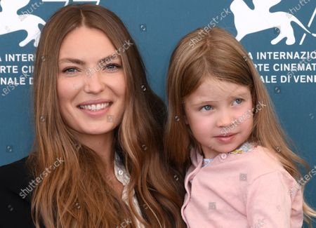 Stock Photo of Cristina Chiriac and daughter Anna