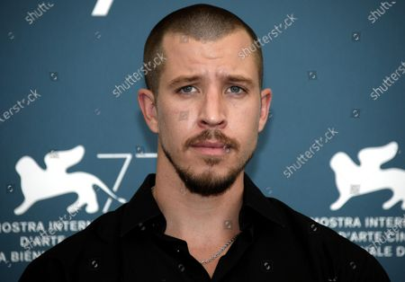 Beau Knapp poses at a photocall for 'Mosquito State ' during the 77th annual Venice International Film Festival, in Venice, Italy, 05 September 2020.  The event is the first major in-person film fest to be held in the wake of the Covid-19 coronavirus pandemic. Attendees have to follow strict safety measures like mandatory face masks indoors, temperature scanners, and socially distanced screenings to reduce the risk of infection. The public is barred from the red carpet, and big stars are expected to be largely absent this year. The 77th edition of the festival runs from 02 to 12 September 2020.