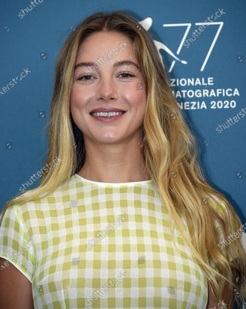 Charlotte Vega poses at a photocall for 'Mosquito State ' during the 77th annual Venice International Film Festival, in Venice, Italy, 05 September 2020.  The event is the first major in-person film fest to be held in the wake of the Covid-19 coronavirus pandemic. Attendees have to follow strict safety measures like mandatory face masks indoors, temperature scanners, and socially distanced screenings to reduce the risk of infection. The public is barred from the red carpet, and big stars are expected to be largely absent this year. The 77th edition of the festival runs from 02 to 12 September 2020.