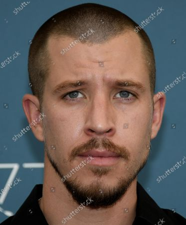 Stock Image of Beau Knapp poses at a photocall for 'Mosquito State ' during the 77th annual Venice International Film Festival, in Venice, Italy, 05 September 2020.  The event is the first major in-person film fest to be held in the wake of the Covid-19 coronavirus pandemic. Attendees have to follow strict safety measures like mandatory face masks indoors, temperature scanners, and socially distanced screenings to reduce the risk of infection. The public is barred from the red carpet, and big stars are expected to be largely absent this year. The 77th edition of the festival runs from 02 to 12 September 2020.