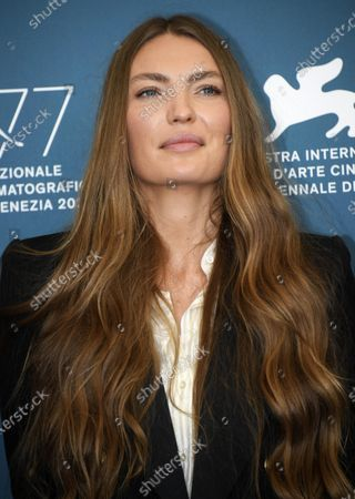 Cristina Chiriac poses at a photocall for 'Sportin' Life' and 'Premio Jaeger-LeCoultre Glory to The Filmmaker 2020', during the 77th annual Venice International Film Festival, in Venice, Italy, 05 September 2020. The movie is presented Out of Competition at the festival running from 02 September to 12 September.