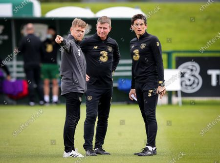 Manager Stephen Kenny with Assistant Coach Keith Andrews and Assistant Coach Damien Duff