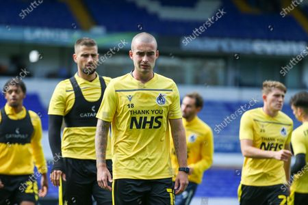 Michael Kelly of Bristol Rovers during the warm up