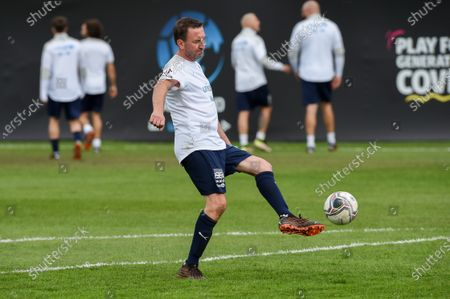 England's Lee Mack during a training session in Manchester ahead of Soccer Aid for Unicef 2020. The match takes place on Sunday 6th September at Old Trafford, home of Manchester United. The match will be broadcast live and exclusive on ITV and STV 6:30pm.