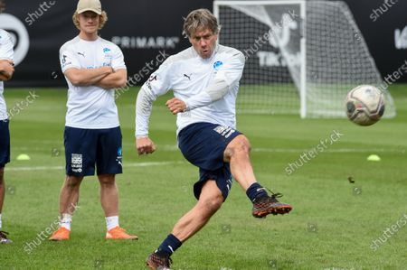 England's John Bishop during a training session in Manchester ahead of Soccer Aid for Unicef 2020. The match takes place on Sunday 6th September at Old Trafford, home of Manchester United. The match will be broadcast live and exclusive on ITV and STV 6:30pm.
