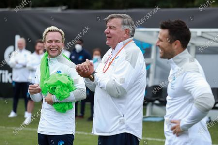 England's Olly Murs, Sam Allardyce and Mark Wright during a training session in Manchester ahead of Soccer Aid for Unicef 2020. The match takes place on Sunday 6th September at Old Trafford, home of Manchester United. The match will be broadcast live and exclusive on ITV and STV 6:30pm.