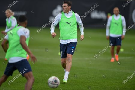 England's Gareth Barry during a training session in Manchester ahead of Soccer Aid for Unicef 2020. The match takes place on Sunday 6th September at Old Trafford, home of Manchester United. The match will be broadcast live and exclusive on ITV and STV 6:30pm.