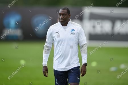 England's Emile Heskey during a training session in Manchester ahead of Soccer Aid for Unicef 2020. The match takes place on Sunday 6th September at Old Trafford, home of Manchester United. The match will be broadcast live and exclusive on ITV and STV 6:30pm.