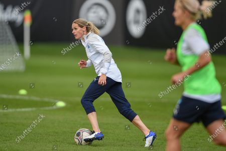England's Kelly Smith during a training session in Manchester ahead of Soccer Aid for Unicef 2020. The match takes place on Sunday 6th September at Old Trafford, home of Manchester United. The match will be broadcast live and exclusive on ITV and STV 6:30pm.