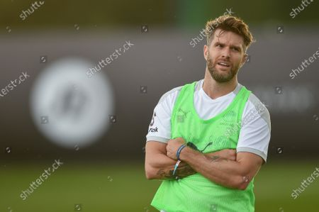 England's Joel Dommett during a training session in Manchester ahead of Soccer Aid for Unicef 2020. The match takes place on Sunday 6th September at Old Trafford, home of Manchester United. The match will be broadcast live and exclusive on ITV and STV 6:30pm.