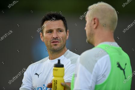 England's Mark Wright and Paddy McGuinness during a training session in Manchester ahead of Soccer Aid for Unicef 2020. The match takes place on Sunday 6th September at Old Trafford, home of Manchester United. The match will be broadcast live and exclusive on ITV and STV 6:30pm.