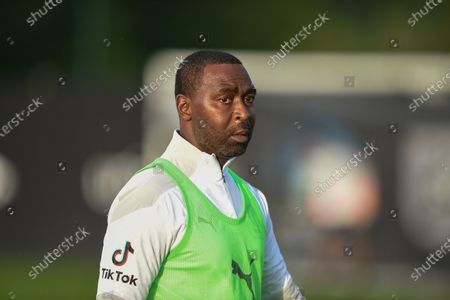 Stock Photo of England's Andy Cole during a training session in Manchester ahead of Soccer Aid for Unicef 2020. The match takes place on Sunday 6th September at Old Trafford, home of Manchester United. The match will be broadcast live and exclusive on ITV and STV 6:30pm.