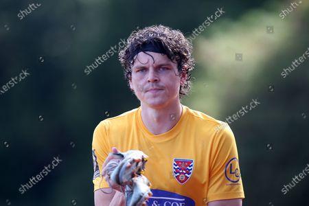 Matt Robinson of Dagenham during Hornchurch vs Dagenham & Redbridge, Friendly Match Football at Hornchurch Stadium on 5th September 2020