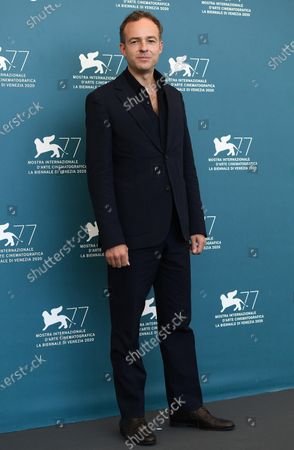 Patrick Kennedy attends a photocall for 'Miss Marx' at the 77th annual Venice International Film Festival, in Venice, Italy, 05 September 2020. The event is the first major in-person film fest to be held in the wake of the Covid-19 coronavirus pandemic. Attendees have to follow strict safety measures like mandatory face masks indoors, temperature scanners, and socially distanced screenings to reduce the risk of infection. The public is barred from the red carpet, and big stars are expected to be largely absent this year. The 77th edition of the festival runs from 02 to 12 September 2020.