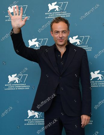 Patrick Kennedy poses at a photocall for 'Miss Marx' during the 77th annual Venice International Film Festival, in Venice, Italy, 05 September 2020. The movie is presented in official competition ''Venezia 77'' at the festival running from 02 September to 12 September.