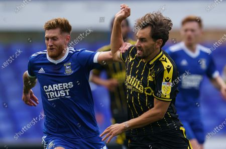 Teddy Bishop of Ipswich Town and Ed Upson of Bristol Rovers