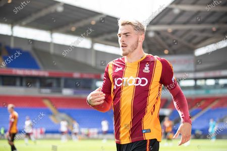 Bradford City defender Tyler French during the EFL Cup match between Bolton Wanderers and Bradford City at the University of  Bolton Stadium, Bolton