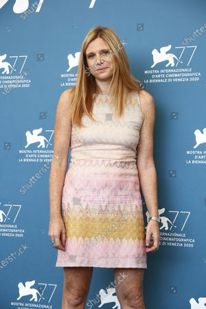 Director Susanna Nicchiarelli poses for photographers at the photo call for the film 'Miss Marx' during the 77th edition of the Venice Film Festival in Venice, Italy