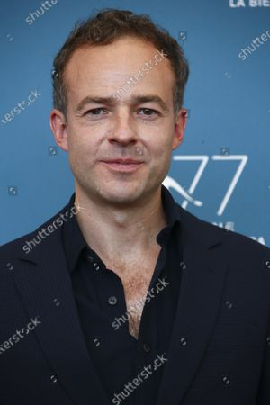 Patrick Kennedy poses for photographers at the photo call for the film 'Miss Marx' during the 77th edition of the Venice Film Festival in Venice, Italy