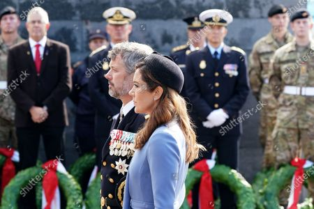 Danish Crown Prince Frederik (L) and Crown Princess Mary attend Flag Day for Denmark's emissaries held at Kastellet in Copenhagen, Denmark, 05 September 2020. Flag Day honors the people who are or have been sent on a mission by Denmark.