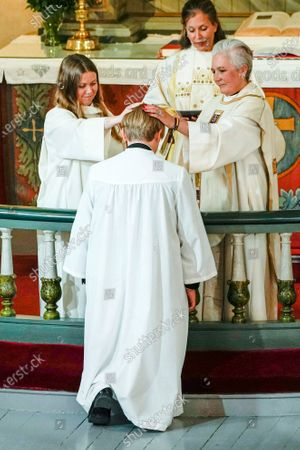 Norwegian Prince Sverre Magnus (C) during his confirmation at the Asker Church, in Asker, Norway, 05 September 2020.
