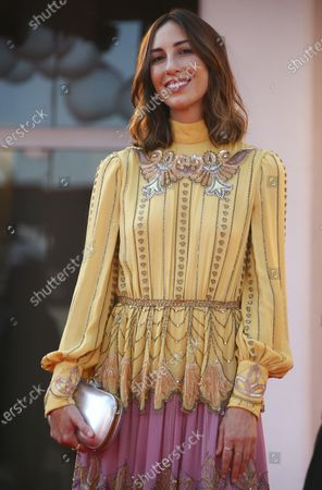 Director Gia Coppola poses for photographers upon arrival at the premiere for the film 'Mainstream' during the 77th edition of the Venice Film Festival in Venice, Italy