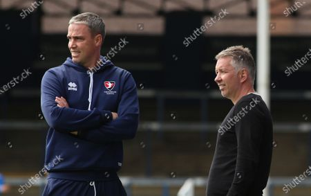 Peterborough United Manager Darren Ferguson with Cheltenham Town manager Michael Duff before kick-off