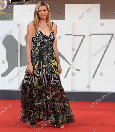 Susanna Nicchiarelli arrives for the premiere of 'Miss Marx' during the 77th annual Venice International Film Festival, in Venice, Italy, 05 September 2020. The movie is presented in the official competition 'Venezia 77' at the festival running from 02 to 12 September. The event is the first major in-person film fest to be held in the wake of the Covid-19 coronavirus pandemic. Attendees have to follow strict safety measures like mandatory face masks indoors, temperature scanners, and socially distanced screenings to reduce the risk of infection. The public is barred from the red carpet, and big stars are expected to be largely absent this year. The 77th edition of the festival runs from 02 to 12 September 2020.
