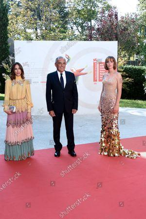 Alberto Barbera, Gia Coppola and Maya Thurman Hawke