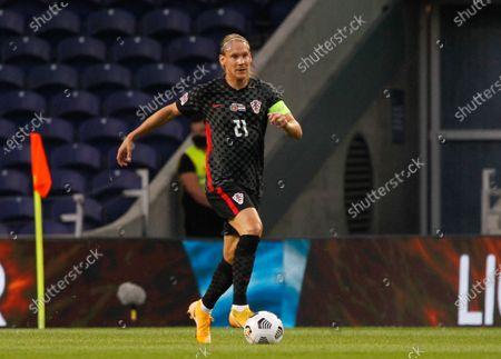 Domagoj Vida of Croatia during the UEFA Nations League Group A3 match between Portugal and Croatia at the Estadio do Dragao, Porto