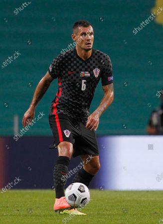 Dejan Lovren of Croatia during the UEFA Nations League Group A3 match between Portugal and Croatia at the Estadio do Dragao, Porto