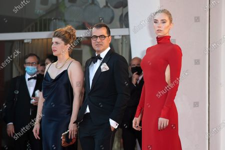 Kornel Mundruczo with his wife and Vanessa Kirby