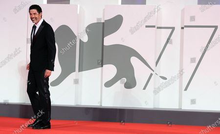 Alessandro Gassmann arrives for the premiere of 'Non Odiare' during the 77th annual Venice International Film Festival, in Venice, Italy, 05 September 2020. The movie is presented in the official competition 'Venezia 77' at the festival running from 02 September to 12 September. The event is the first major in-person film fest to be held in the wake of the Covid-19 coronavirus pandemic. Attendees have to follow strict safety measures like mandatory face masks indoors, temperature scanners, and socially distanced screenings to reduce the risk of infection. The public is barred from the red carpet, and big stars are expected to be largely absent this year.