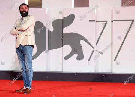 Quentin Dupieux arrives for the premiere of 'Mandibules' during the 77th annual Venice International Film Festival, in Venice, Italy, 05 September 2020.  The movie is presented out of competition at the festival running from 02 September to 12 September. The event is the first major in-person film fest to be held in the wake of the Covid-19 coronavirus pandemic. Attendees have to follow strict safety measures like mandatory face masks indoors, temperature scanners, and socially distanced screenings to reduce the risk of infection. The public is barred from the red carpet, and big stars are expected to be largely absent this year.
