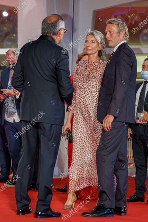 Alberto Barbera, Mads Mikkelsen and Hanne Jacobsen