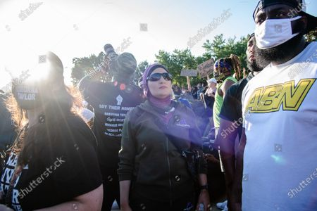 Editorial image of Protesters Rally Outside Kentucky Derby Demanding Justice For Breonna Taylor, Louisville, USA - 05 Sep 2020