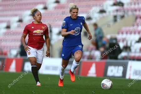 Editorial image of Manchester United Women v Chelsea Women, The Barclays FA Women's Super League, Football, Leigh Sports Village, Leigh, UK - 06 Sep 2020