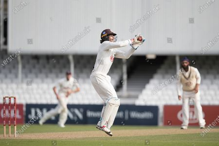 Ben Foakes, Surrey CCC collects but canÕt effect a run out during Surrey CCC vs Sussex CCC, Bob Willis Trophy Cricket at the Kia Oval on 6th September 2020