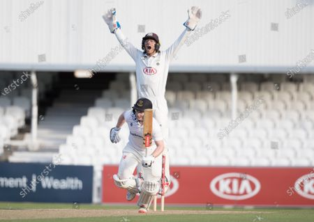 Ben Foakes, Surrey CCC leads an appeal against Ben Brown, Sussex CCC during Surrey CCC vs Sussex CCC, Bob Willis Trophy Cricket at the Kia Oval on 6th September 2020